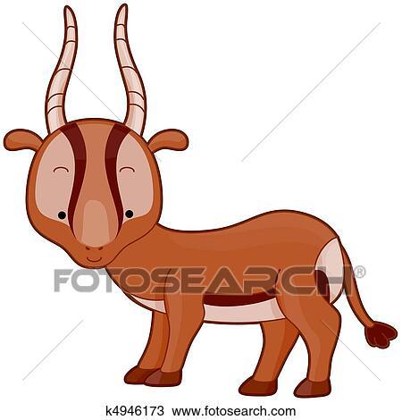 Dessin gazelle k4946173 recherchez des cliparts des illustrations et des images vectoris es - Gazelle dessin ...