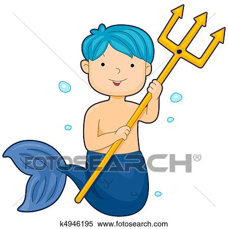 stock illustration of merman k4946195 search clipart drawings