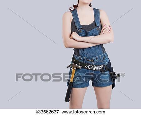 Bild Sexy Bauarbeiterin K33562637 Suche Stockfotografie Fotos