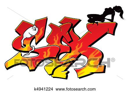 clipart of sexy graffiti k4941224 search clip art illustration rh fotosearch com graffiti clipart free download graffiti clipart letters