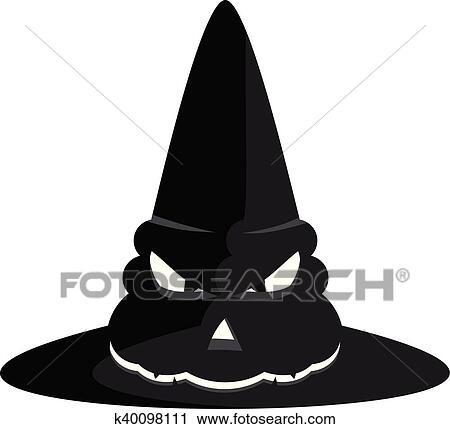 Sorcière Halloween Chapeau Clipart