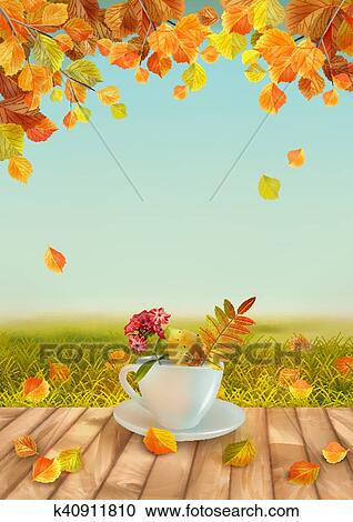 clipart of vector autumn background k40911810 search clip art