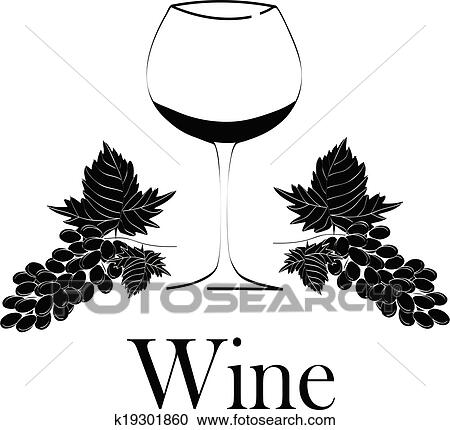 Clipart Of Wine Glass Concept Menu Design Wine Glass With Grapes