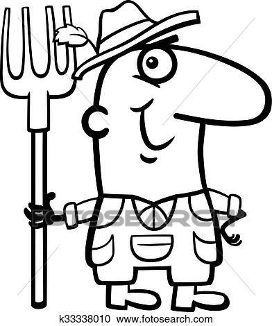 Happy Farmer Heart And Arrow Cartoon Picture With Hat And Tools. Vector  Illustration Lizenzfrei Nutzbare Vektorgrafiken, Clip Arts, Illustrationen.  Image 139928055.