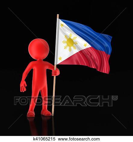 Philippines Horizontal Illustration Stock Vector