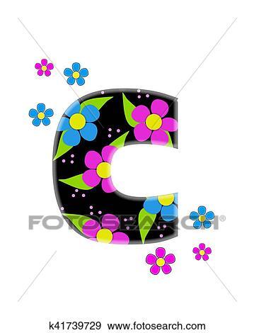 Colección de ilustraciones - alfabeto, flor, topia, c k41739729 ...