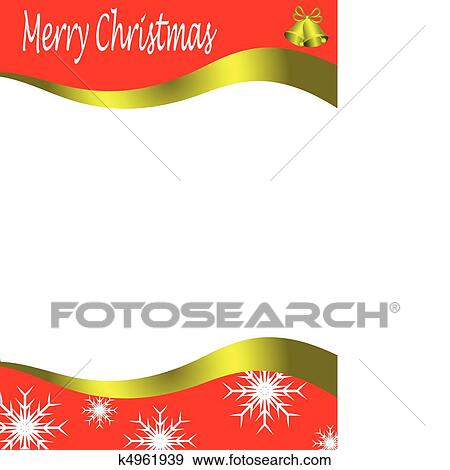 Christmas Boarders.Vector Christmas Stationary Wirh Top And Bottom Christmas Borders With Room For A Letter Clip Art