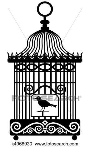 clipart of vintage birdcage k4968930 search clip art