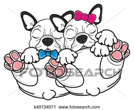 clipart of white french bulldog puppy k40134071 search clip art rh fotosearch com french bulldog sitting clipart cute french bulldog clipart