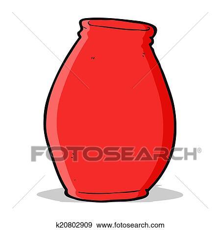 Clip Art Of Cartoon Vase K20802909 Search Clipart Illustration