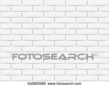Ceramic Brick Tile Wall Vector Illustration Eps 10 Clip Art