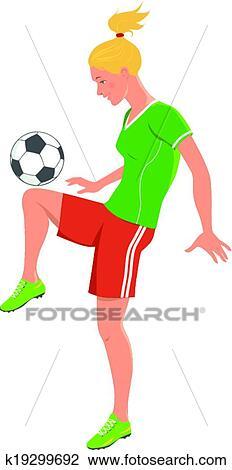 Fussball Madchen Clipart K19299692 Fotosearch