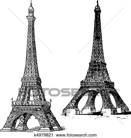 Clipart of vector eiffel tower k4979821 search clip art set of vector eiffel towers thecheapjerseys Gallery