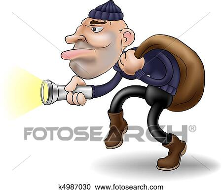 clipart of a thief in the night k4987030 search clip art rh fotosearch com theft clip art thief face clip art