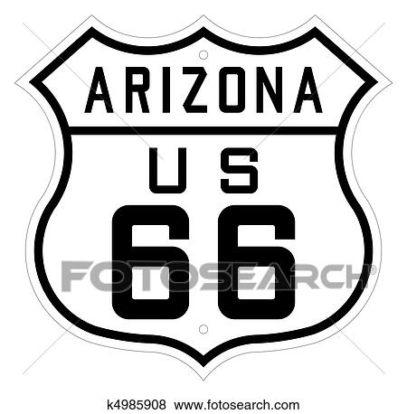Pictures Of Arizona Highway Or Route 66 Sign K4985908 Search Stock