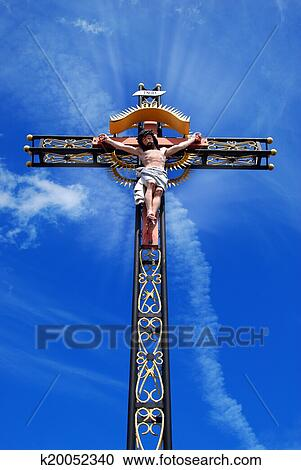 Stock Photography Of Beautiful Cross With Jesus Christ K20052340