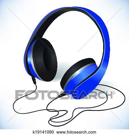Clipart - blau, freigestellt, kopfhörer, emblem k19141090 - Suche ...