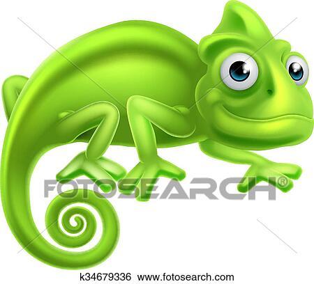 clip art of cartoon chameleon k34679336 search clipart rh fotosearch com chameleon clip art free chameleon clip art black and white