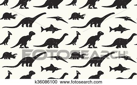 Dinosaurios Negro Siluetas Blanco Fondo Seamless Patron Clipart K36086100 Fotosearch Gabu, az, paris, spinosaurus, saichania, styracosaurus, ceratosaurus, acrocanthosaurus, altirhinus, iguanodon, pteranodon el dr. https www fotosearch es csp498 k36086100