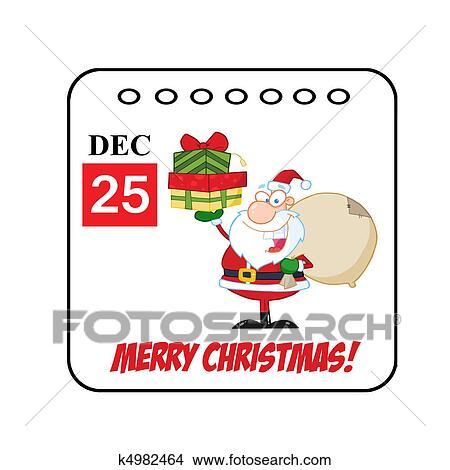 Calendrier Dessin Anime.Jour Ferie Christmas Dessin Anime Calendrier Clipart