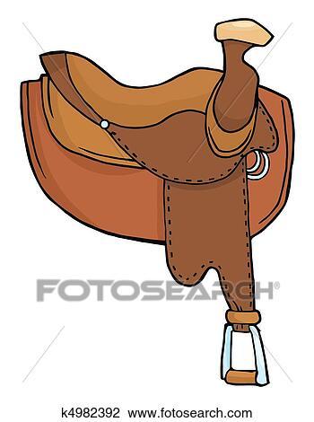 Clipart cheval selle k4982392 recherchez des clip arts des illustrations des dessins et - Clipart cheval ...
