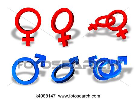 Stock Illustration Of Male And Female Sex Symbols K4988147 Search