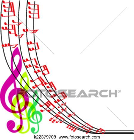 clip art of music notes composition musical theme background rh fotosearch com White Music Note Vector Music Notes Background