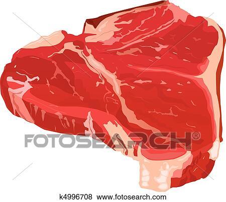 الشريحة لحم الخام Clip Art K4996708 Fotosearch