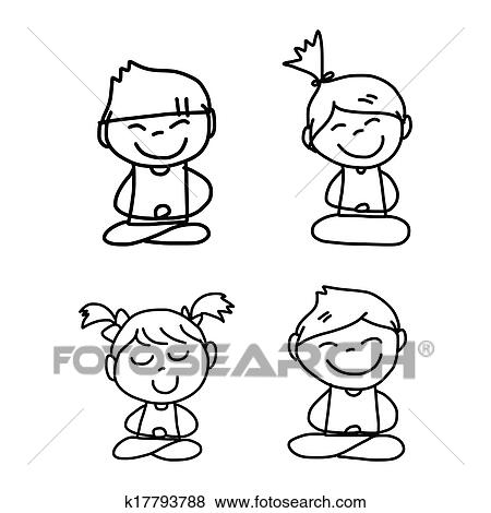 clip art of hand drawing cartoon happy people k17793788 search