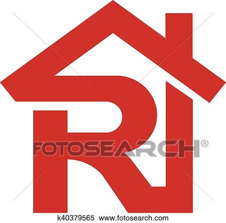 Clipart Of Letter R Realtor Real Estate Logo K40379565