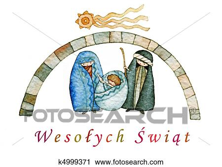 clipart merry christmas in polish fotosearch search clip art illustration murals