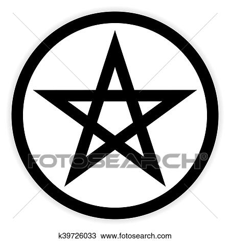 clipart of pentagram button on white k39726033 search clip art rh fotosearch com button clipart christmas button clip art jpg