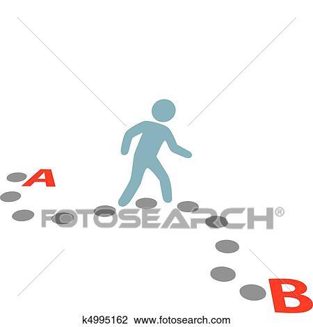 Follow the Path Clip Art