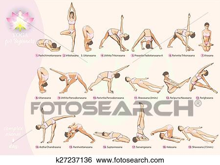 yoga for beginners1day clip art  k27237136  fotosearch
