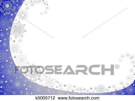 Blu Natale Cornice Con Stelle Disegno K5005712 Fotosearch