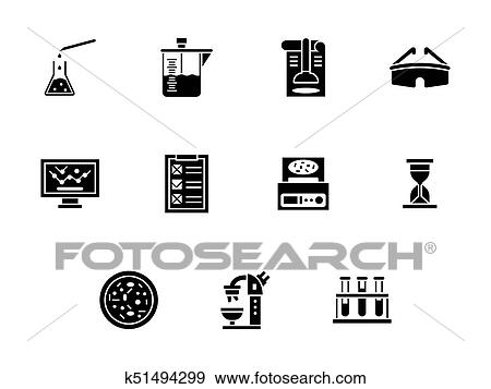 Forensic Laboratory Glyph Style Vector Icons Set Clip Art K51494299 Fotosearch