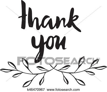 Clip Art Of Thank You K46470967
