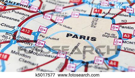 パリ ように A 旅行ディスティネーション 上に A 地図