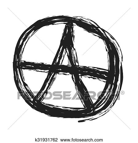 Clipart Of Anarchy Symbol Drawing Punk Vector K31931762 Search