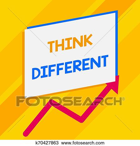 Conceitual Passe Escrito Mostrando Pensar Different Negocio
