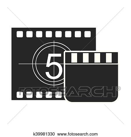 Fita Registro Contador Com Cinema Icone Clipart K39981330