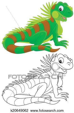 Iguane Dessin K20649062 Fotosearch