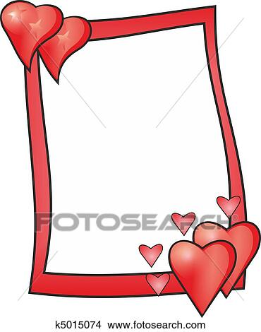 Drawings of Love frame k5015074 - Search Clip Art Illustrations ...