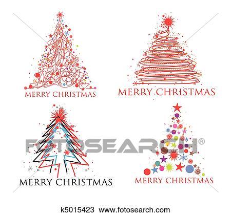 Natal Coloridos Desenho Clipart K5015423 Fotosearch