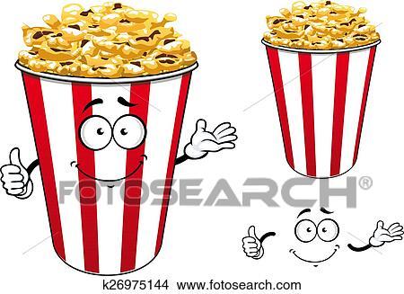 しまのある 赤 ペーパー ポップコーン の バケツ 漫画 特徴