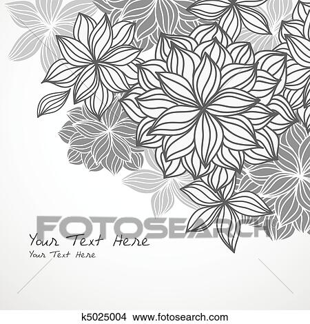 Clipart Of Floral Background Corner K5025004 Search Clip Art