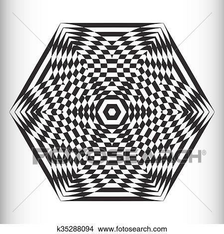 Clipart Illusione Ottica Di Il Pendenza Vettore Estratto