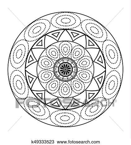 Mandalas Para Coloracao Book Decorativo Preto Branco