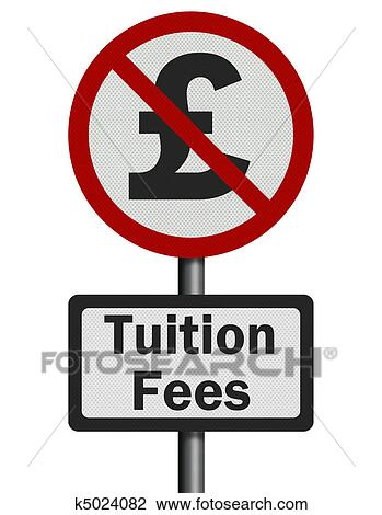 clip art of photo realistic no tuition fees sign isolated on rh fotosearch com tuition clip art free Tuition Fee Clip Art