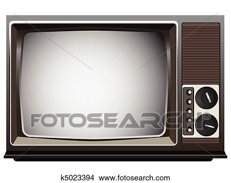 Clipart - vendimia, televisor k5023394 - Buscar Clip Art ...